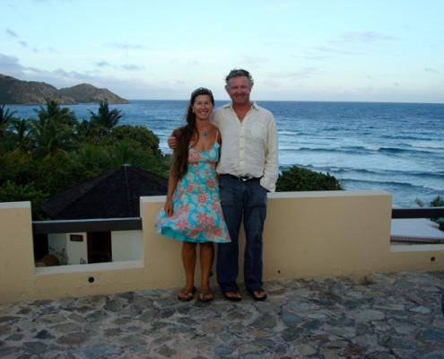 Lynn Griffiths and Mark Miles Biras Creek Hotel BVI
