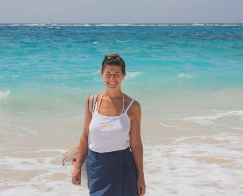 Lynn Griffiths in Mustique the Grenadines