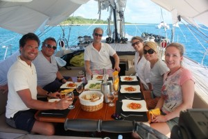 Friends Charter onboard Pacific Wave Green Island Antigua