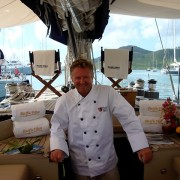 Pacific Wave Chef Mark Miles at the Antigua Yacht Show