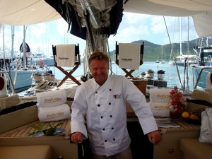 Chef Mark Miles onboard Pacific Wave Antigua Yacht Show