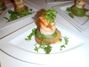 Shrimp stack with local Avocado Tomato & Rocket