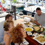 Judges onboard Pacific Wave Concours de Chefs Antigua Yacht Show