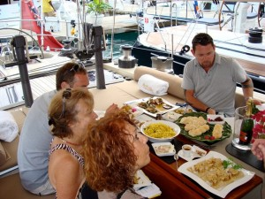 Judges onboard Pacific Wave Concours de Chefs Antigua Yacht Show