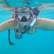 Captain Lynn snorkelling in the British Virgin Islands