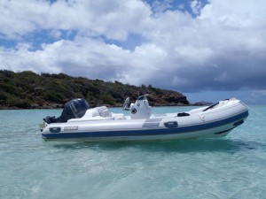 SY Pacific Wave new Caribe dinghy