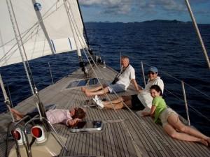 Christmas Family Charter sailing to Norman Island BVI