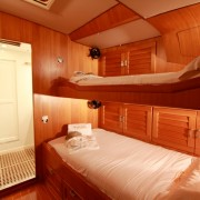 SY Pacific Wave Guest Suite Starboard side