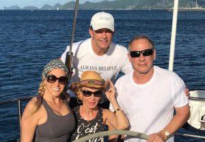 Cindia, David, Cindy & Steven California USA on a BVI Crewed Yacht Charter onboard Pacific Wave