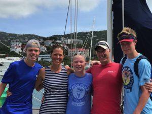 Ian, Karen, Will, Josh & Katie sailing onboard Pacific Wave