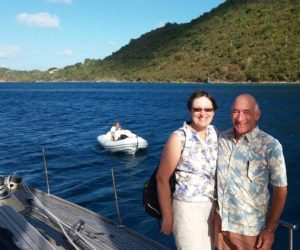 Joan & Tom onboard Pacific Wave Charter Guests on a BVI Crewed Yacht Charter 22 - 29Jan 2017