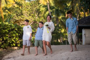 Pacific Wave Renewal of Vows with the Kids