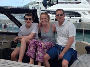 Robert, Megan & Robbie Pacific Wave Yacht Charter