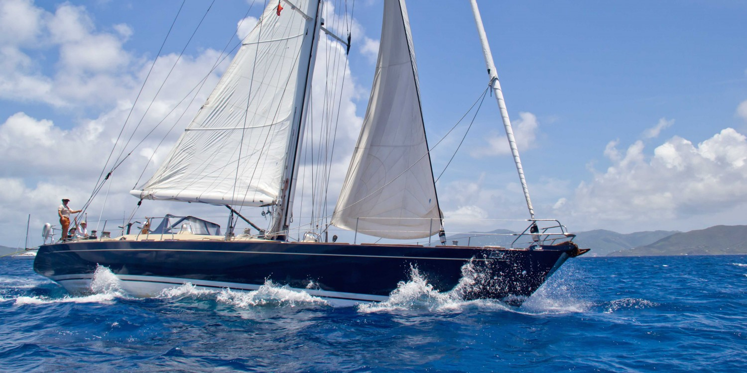 SY Pacific Wave sailing BVI