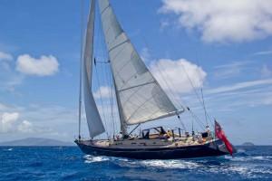 SY Pacific Wave sailing British Virgin Islands