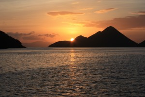 Sunset over Great Thatch BVI