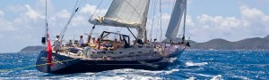 Pacific Wave sailing down the Sir Francis Drake Channel BVI