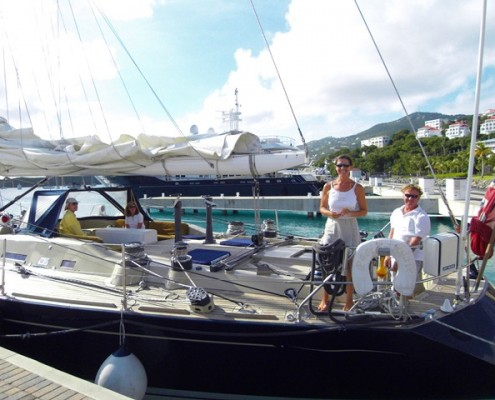 Lynn Griffiths and Mark Miles onboard Pacific Wave Yacht Haven Grande Marina USVI