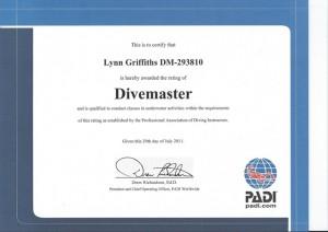 Lynn Griffiths Padi Divemaster
