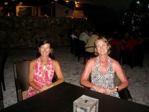 Lynn Griffiths and Debbie Leach at the Biras Creek Hotel BVI