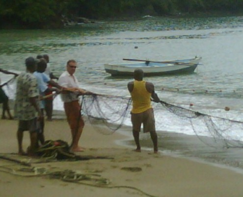 Seine Fishing in Tobago Caribbean