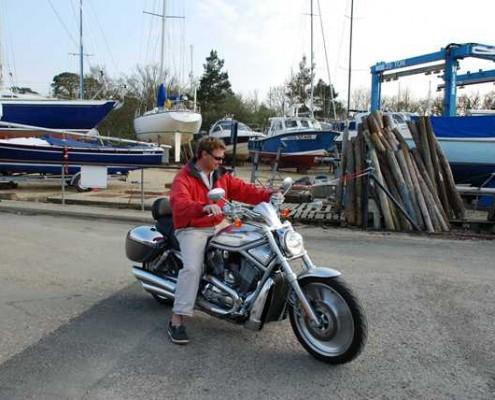 Mark on a Harley Davidson