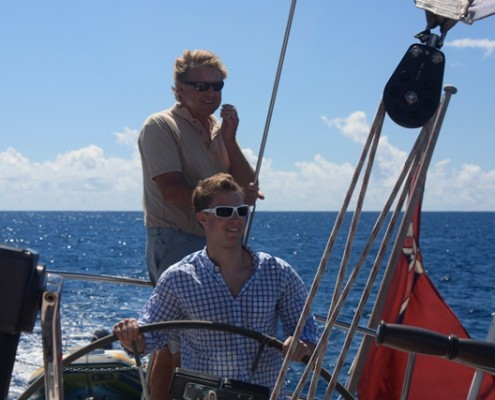 Charter Guest sailing in the BVI