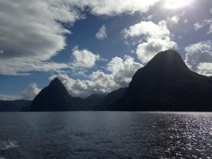 Departing the Piton St Lucia onboard Pacific Wave