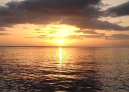 Magnificent sunset from Pacific Wave in Dominica