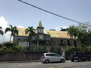 Old stone church on Dominica