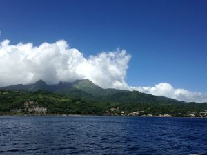Pacific Wave departing Dominica