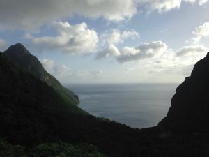 View from Ladera Hotel St Lucia