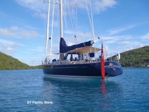 Pacific Wave anchored North Sound BVI