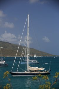 SY Pacific Wave anchored off BEYC BVI