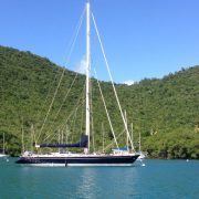 Pacific Wave moored Marigot Bay St Lucia