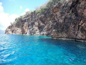 Snorkel time from Pacific Wave Dinghy at The Caves BVI