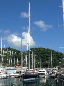 SY Pacific Wave moored Port Louis Marina Grenada
