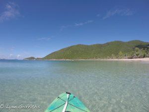 Kayaking around Francis Bay St John after Irma
