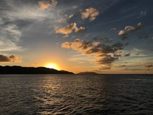 Sunset from Francis Bay St John taken from Pacific Wave