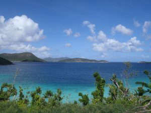 Views from the Annaberg Sugar Mill St John towards the BVI after Hurricane Irma