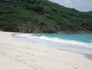 Deserted Beach on Mustique