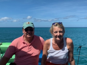 John and Debbie Wedding Anniversary Grenadines Yacht Charter onboard Pacific Wave