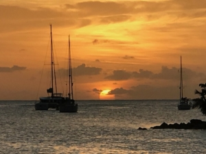 Caribbean Sunset from Pacific Wave