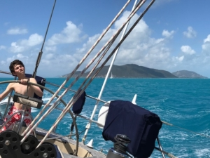 Sailing the Sir Francis Drake Channel on Pacific Wave